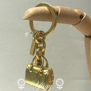 🌸 Coach F35134 Bennett Bag Charm Key Chain Gold🌸